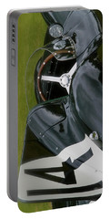 Jaguar Racing Car Smart Phone Case Portable Battery Charger by John Colley