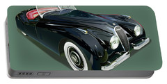 Jaguar Xk 120 Illustration Portable Battery Charger