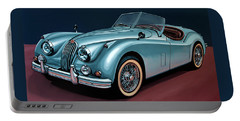 Jaguar Xk140 1954 Painting Portable Battery Charger
