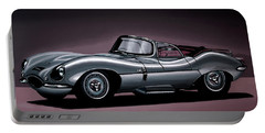Jaguar Xkss 1957 Painting Portable Battery Charger
