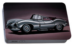 Jaguar Xkss 1957 Painting Portable Battery Charger by Paul Meijering