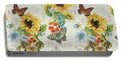 Portable Battery Charger featuring the painting Jaime Mon Jardin-jp3989 by Jean Plout