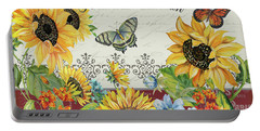 Portable Battery Charger featuring the painting Jaime Mon Jardin-jp3990 by Jean Plout