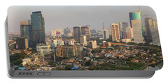 Jakarta Urban Skyline In Indonesia Portable Battery Charger
