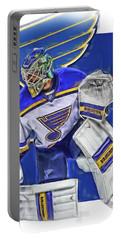 Jake Allen St Louis Blues Oil Art Portable Battery Charger