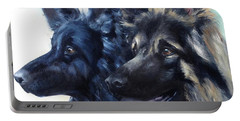 Jake And Shiloh Portable Battery Charger by Diane Daigle
