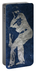 Jake Arrieta Chicago Cubs Art Portable Battery Charger by Joe Hamilton