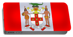 Portable Battery Charger featuring the drawing Jamaica Coat Of Arms by Movie Poster Prints