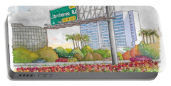 Jamboree Rd. Freeway 405 Exit Sign In Irvine, California Portable Battery Charger
