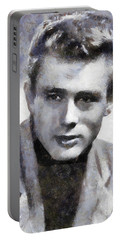James Dean By Sarah Kirk Portable Battery Charger