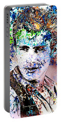 James Dean In Pop Art Portable Battery Charger