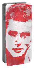 James Dean Pop Art Portable Battery Charger by Mary Bassett