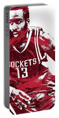 James Harden Houston Rockets Pixel Art 3 Portable Battery Charger