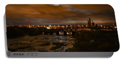James River At Night Portable Battery Charger