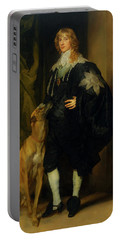 Portable Battery Charger featuring the painting James Stuart - Duke Of Richmond And Lennox                       by Anthony Van Dyck