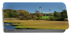 Jamestown Marsh With Pell Bridge Portable Battery Charger