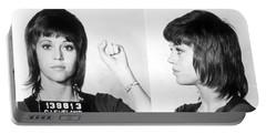 Jane Fonda Mug Shot Horizontal Portable Battery Charger