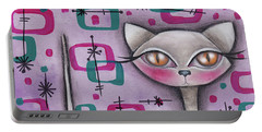 Janice Cat Portable Battery Charger by Abril Andrade Griffith