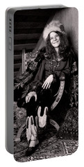 Janis Joplin Casual Portable Battery Charger by Daniel Hagerman