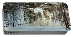 January Morning At Awosting Falls Portable Battery Charger