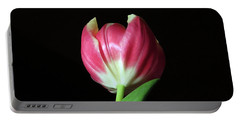 January Red Tulip Portable Battery Charger