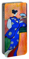 Japan Geisha Kimono Colorful Decorative Painting Ethnic Gift Decor Portable Battery Charger