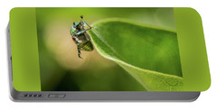 Japanese Beetle On Milkweed Portable Battery Charger