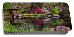 Portable Battery Charger featuring the photograph Japanese Garden At Maymont by Rick Berk