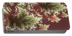 Portable Battery Charger featuring the digital art Japanese Garden I by Susan Maxwell Schmidt