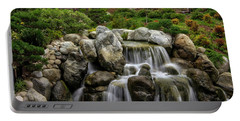 Japanese Garden Waterfalls Portable Battery Charger