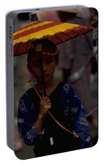 Portable Battery Charger featuring the photograph Japanese Girl by Travel Pics