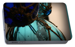 Portable Battery Charger featuring the photograph Japanese Glass Floats by Katie Wing Vigil