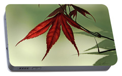 Portable Battery Charger featuring the photograph Japanese Maple Leaf by Ann Lauwers