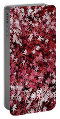 Japanese Maple Leaves Portable Battery Charger by Matt Lindley