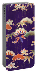 Japanese Style Apricot Interior Art Painting. Portable Battery Charger