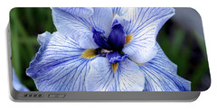 Japanese Water Iris In Blue 2695 H_3 Portable Battery Charger