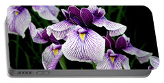 Japanese Water Iris In Purple 2714 H_2 Portable Battery Charger