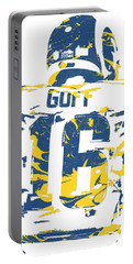 Jared Goff Los Angeles Rams Pixel Art 2 Portable Battery Charger
