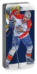 Jaromir Jagr Florida Panthers Oil Art Series 3 Portable Battery Charger