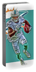 Jarvis Landry Miami Dolphins Oil Art Portable Battery Charger