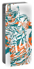 Jarvis Landry Miami Dolphins Pixel Art 10 Portable Battery Charger