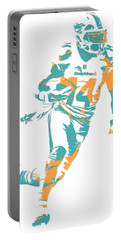 Jarvis Landry Miami Dolphins Pixel Art 5 Portable Battery Charger