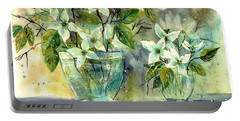 Jasmine In Glass Portable Battery Charger