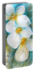 Portable Battery Charger featuring the painting Jasmine by Jasna Dragun