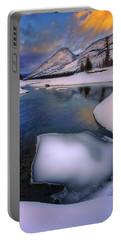 Jasper In The Winter Portable Battery Charger by Dan Jurak