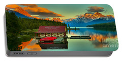 Jasper Maligne Lake Panorama Portable Battery Charger