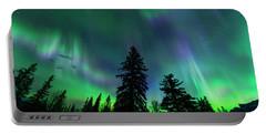 Portable Battery Charger featuring the photograph Jasper National Park Aurora by Dan Jurak