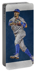 Javier Baez Chicago Cubs Art Portable Battery Charger