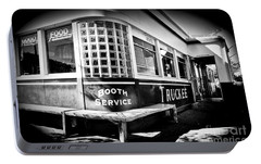 Portable Battery Charger featuring the photograph Jax Diner, Truckee by Vinnie Oakes
