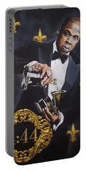 Jay-z 444 Grammy Award Portrait Original Acrylic Painting Portable Battery Charger